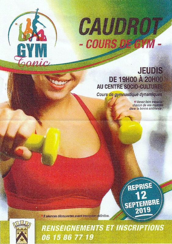 GYM TONIC Caudrot reprise 12 septembre 2019