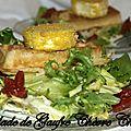 Salade de gaufre chèvre chaud