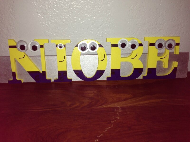 minions letters door name