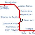 Poème de métro (ligne a du métro rennais)