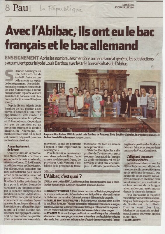 article Abibac 2016 La Republique