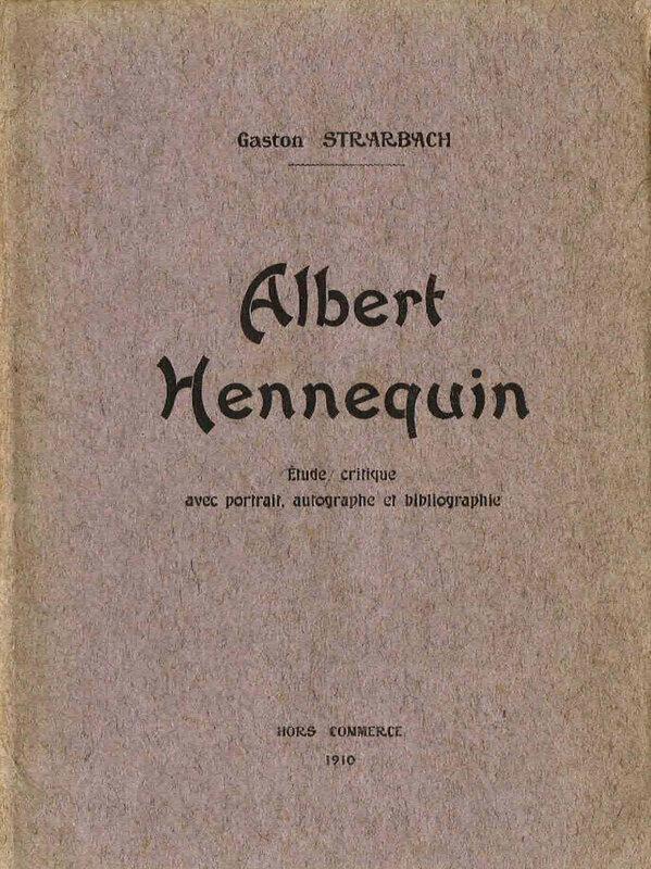 Gaston Strarbach, Albert Hennequin, brochure (1)