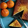 Gâteau de semoule a la mandarine