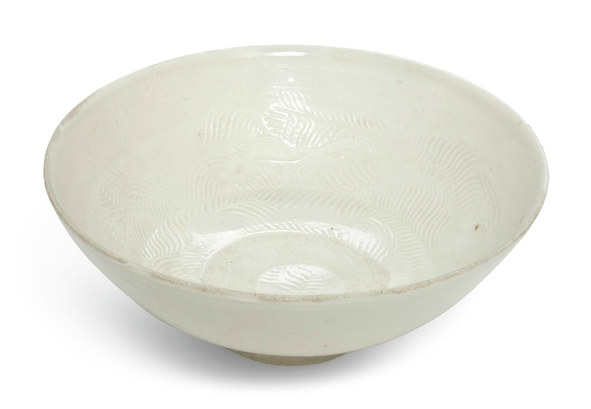 A 'Huozhou' white-glazed bowl, Jin-Yuan Dynasty (1115-1368)