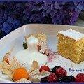 Tarta de almendras y limon (gâteau aux amandes et au citron)