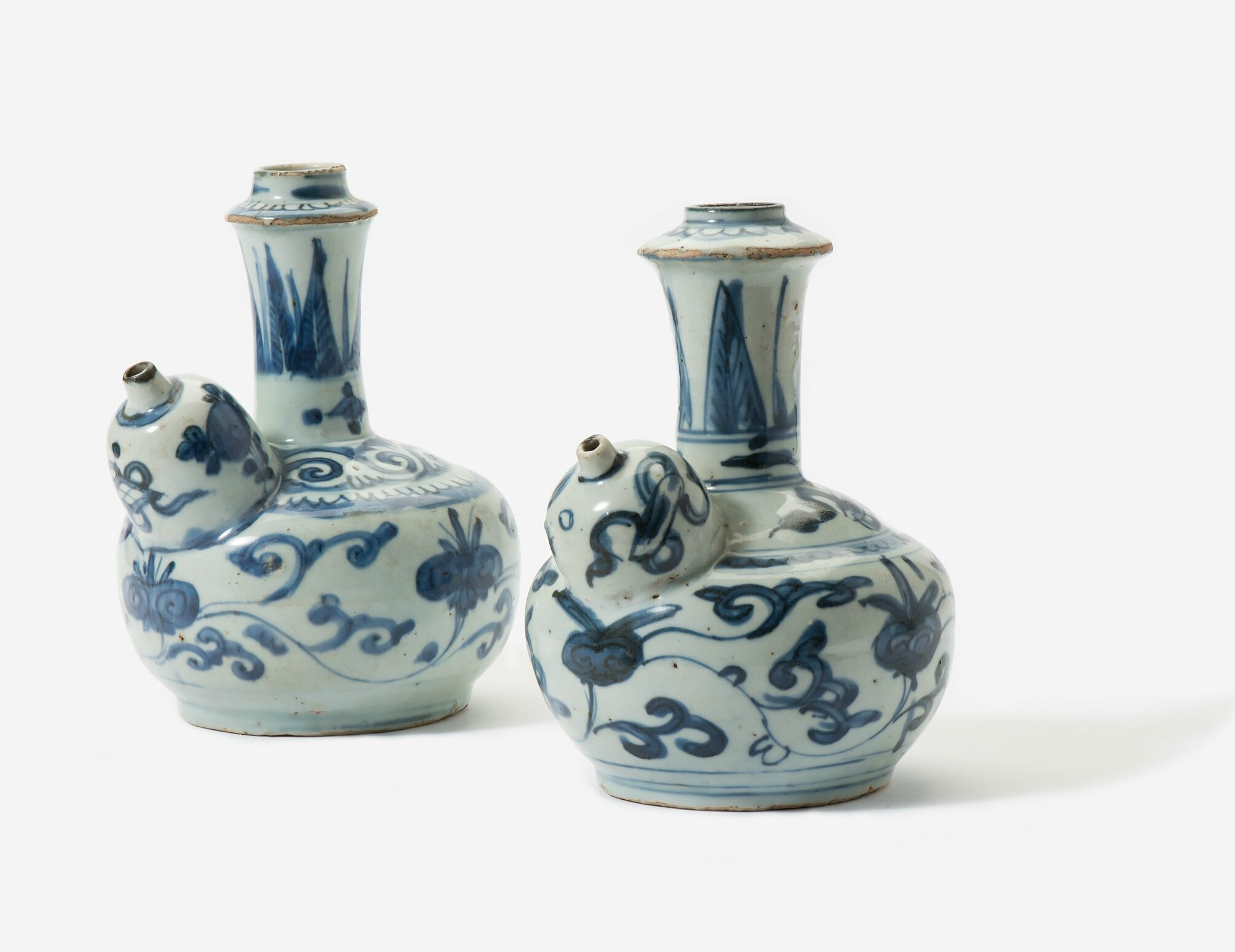 Two blue and white kendi, Wanli period (1573-1619)