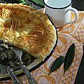 Pie aux poireaux et champignons