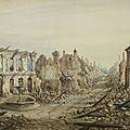 Moullin (Emile) châteaudun après le bombardement du 18 octobre 1870