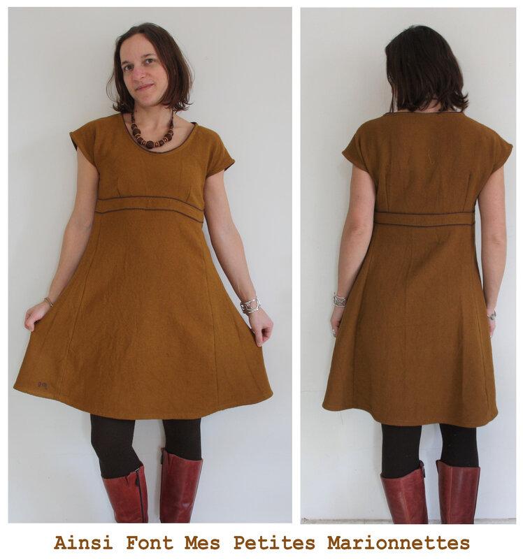 robe toile moutarde (8)