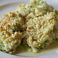 Crumble cabillaud courgettes