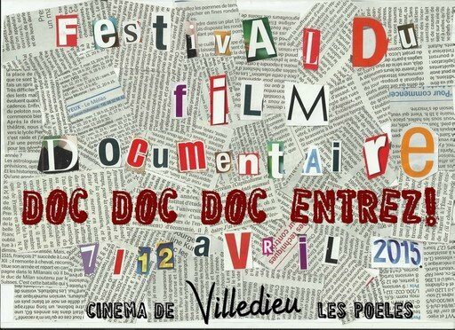 festival film documentaire Doc Doc Doc Entrez 2015 Villedieu les Poêles affiche visuel
