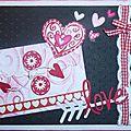 1 carte valentin