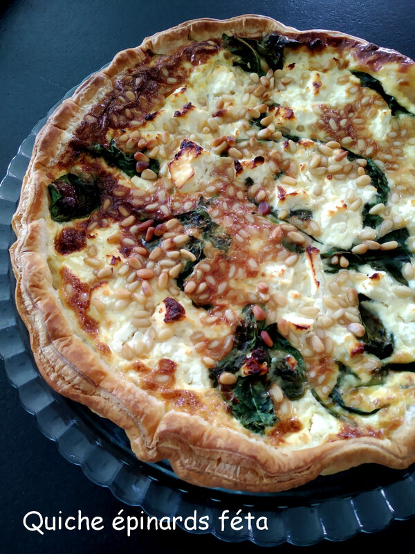 quiche épinards féta