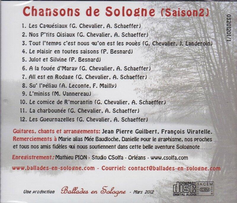 Verso CD balades saison 2