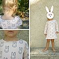 Robe sweat petit lapin