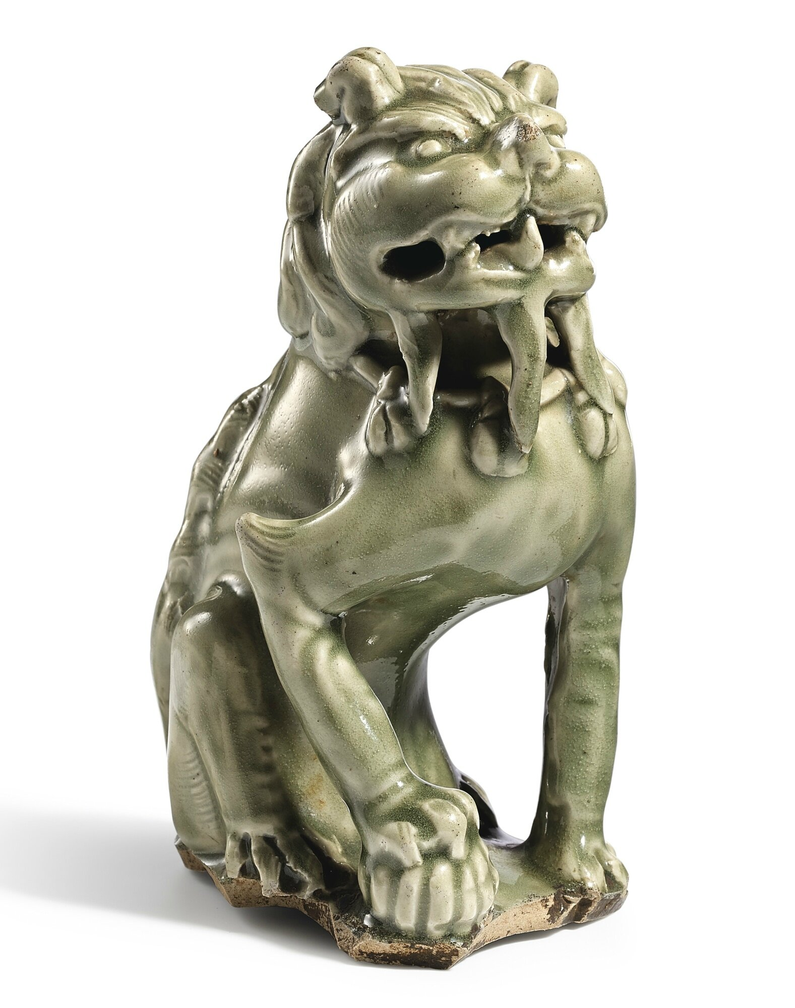 A 'Yaozhou' celadon figure of a lion, Five Dynasties (907-960) or earlier