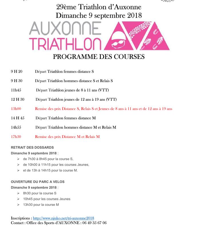 Programme TRI 2018 2