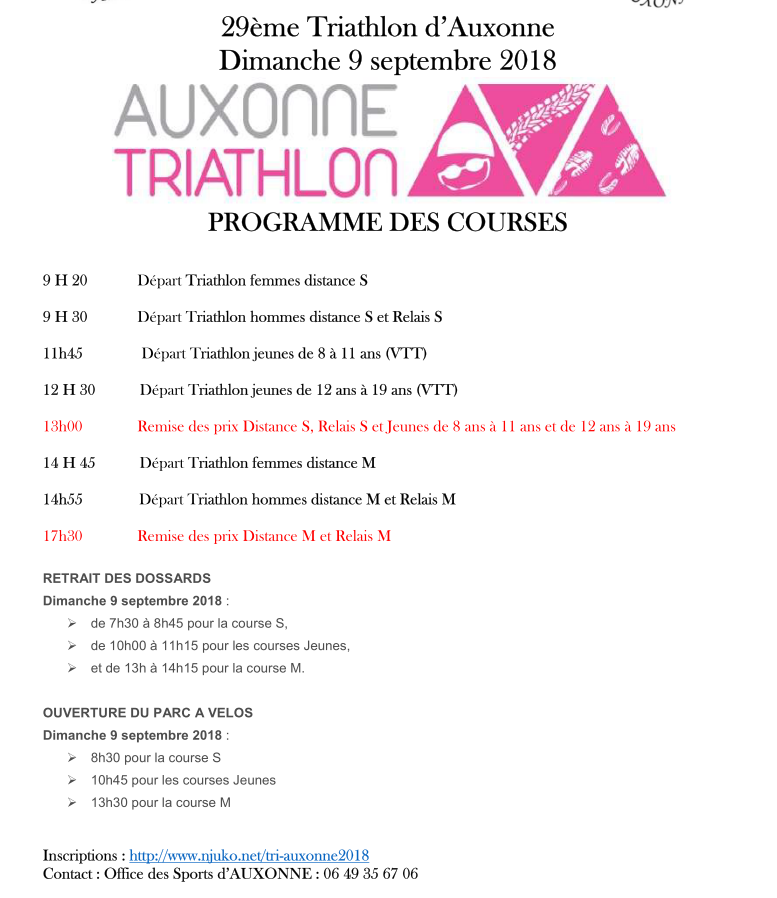 triathlon auxonne 2018