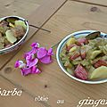 Rhubarbe rôtie au gingembre