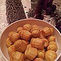 Muffins façon cannelés au safran du rouzereau