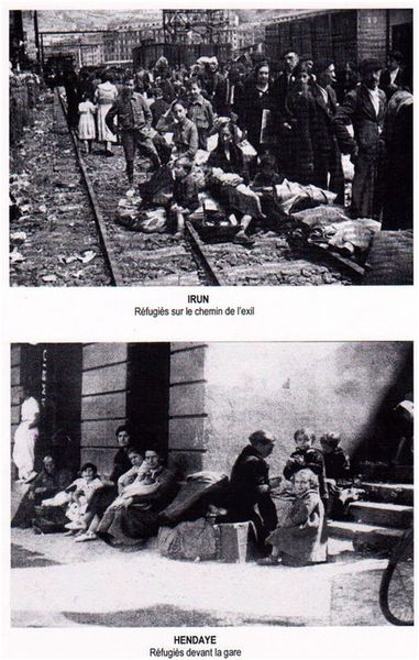 refugie devant la gare hendaye