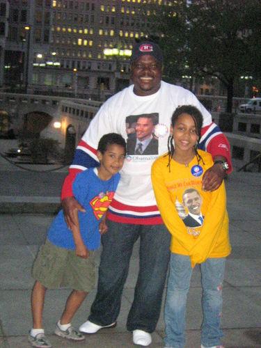 Moi, ma fille Telvin et James son frère (USA)