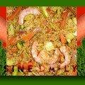Riz saute aux crevettes & legumes (version 2)