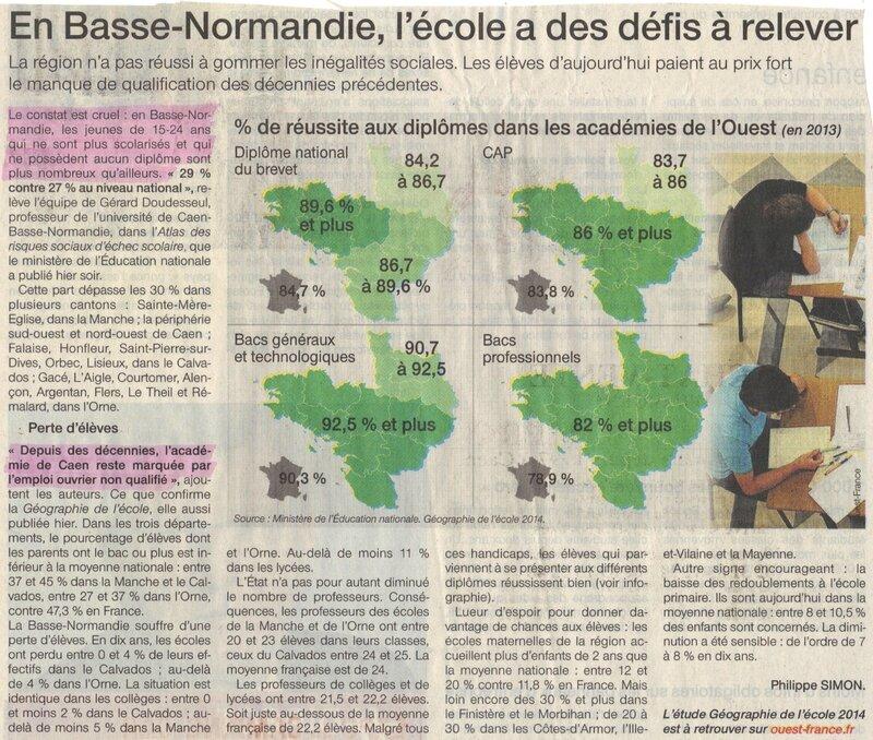 Normandie basse scolaire