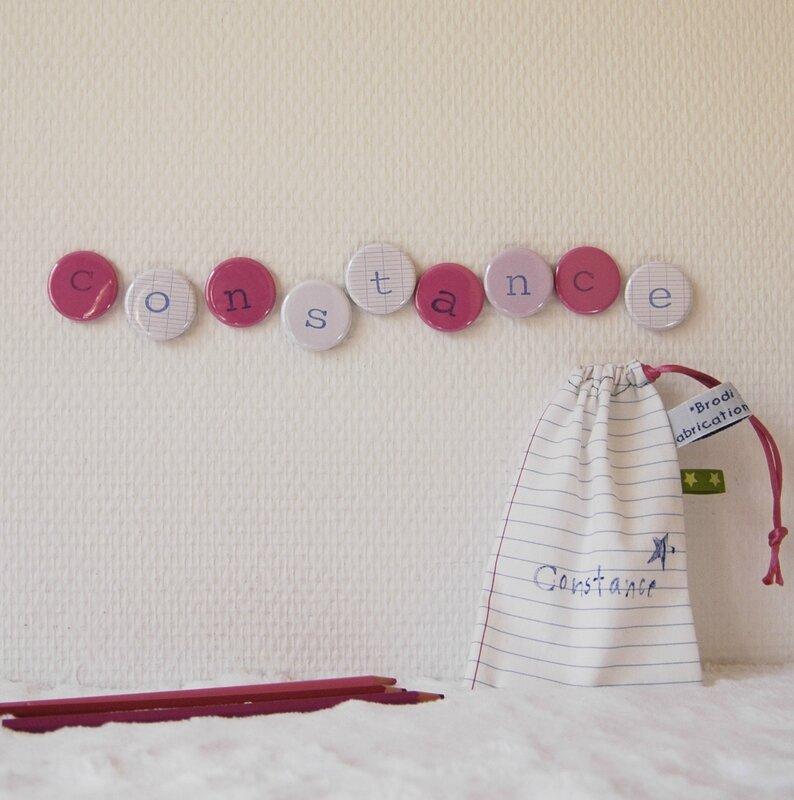 Brodi Broda-magnets lettres aimant alphabet-cadeau personnalisé