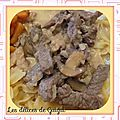 Boeuf aux champignons ( thermomix )