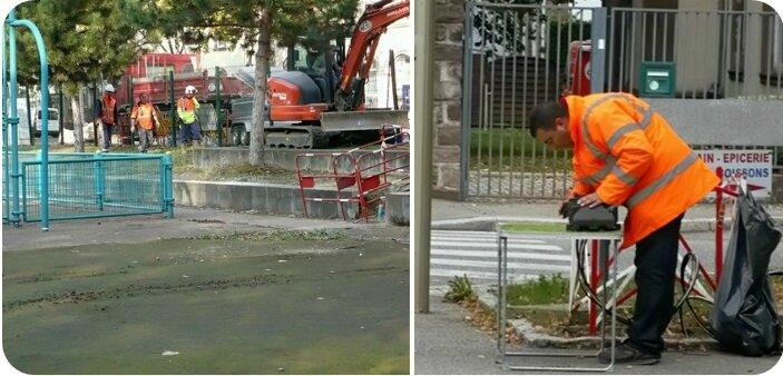 Quartier Drouot - Borne-fontaine - Fibre optique