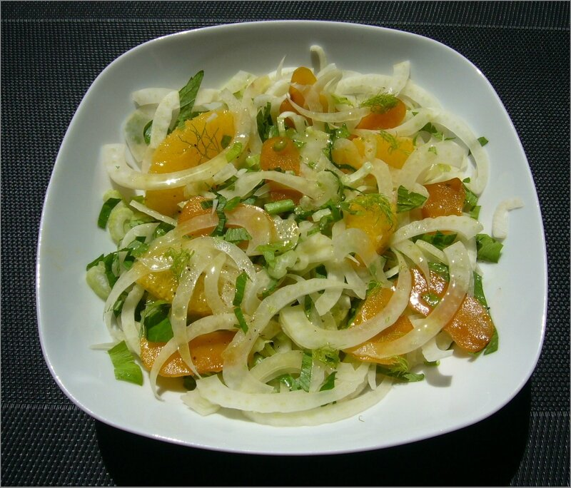 Salade sarde a la poutargue