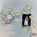 Collection parfum de roses - page envolée de coeurs - christelle bille