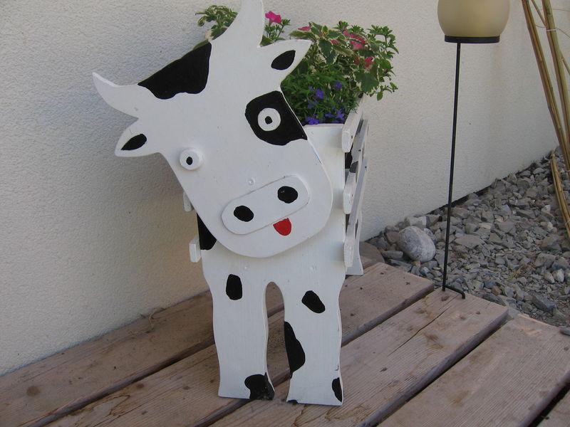 Jardinière vache en bois Lucie mai 2006