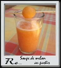 Soupe de melon au pastis