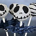 Cake pops jack skellington.