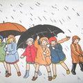 appliqué pluie