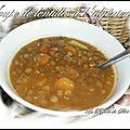 Soupe de lentilles a l'algérienne (sans viande )