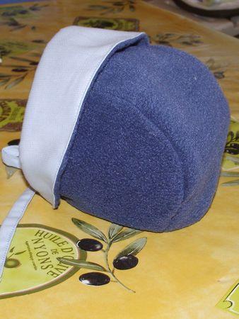 bonnet 3 mois polaire marine piqué bleu ciel 4