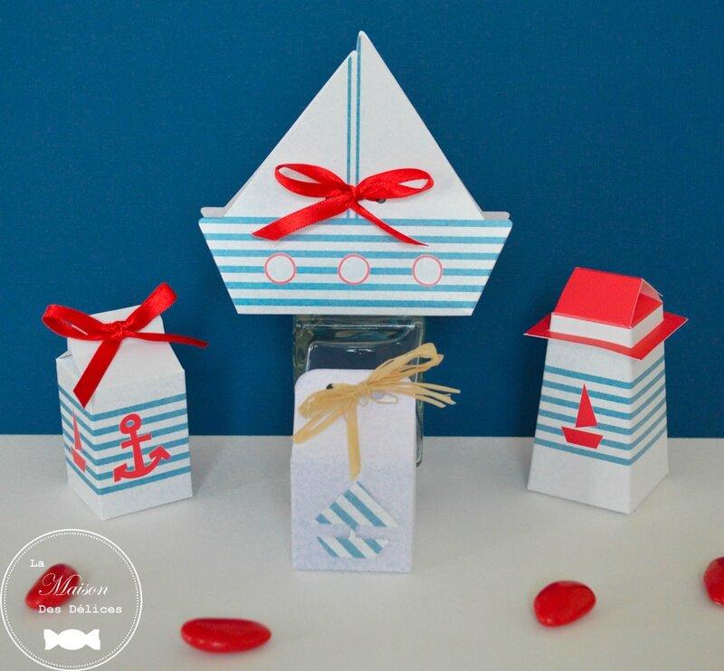 ballotin-mariage-bapteme-boite-contenant-dragees-theme-marine-navire-bateau-phare-ancre-amande-avola-chocolat-rayure