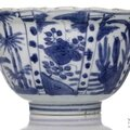 A deep blue and white kraak porcelain bowl, china, wanli period