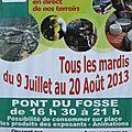 Marche des producteurs à pont du fossé le 23 juillet 2013