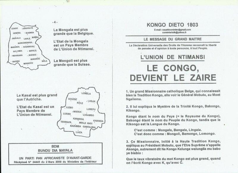 LE CONGO DEVIENT LE ZAIRE a
