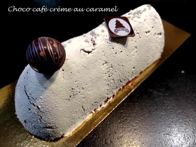 bûche choco café crème au caramel 1