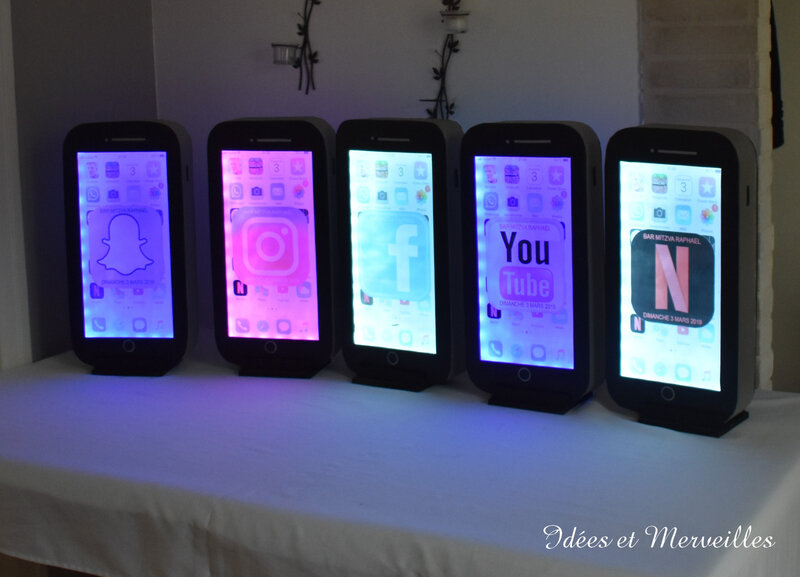 deco high tech centre de table iphone - idees et merveilles 1
