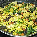Poêlée de chou chinois pak choi, noisettes et tofu - vegan