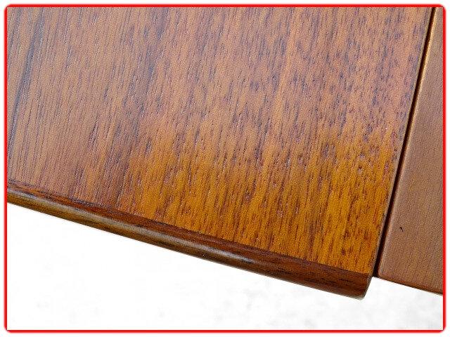 table design scandinave 2 rallonges teck