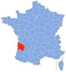 """Résultat de recherche d'images pour """"carte localisation du département de la Gironde"""""""