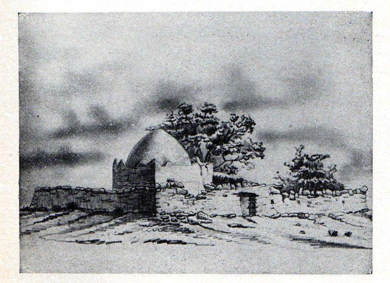 Le marabout de Sidi-Brahim - dessin de Chanzy en 1847