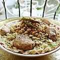 Farfalles au poulet (façon douaïda ou tlaïtli) -plat traditionnel